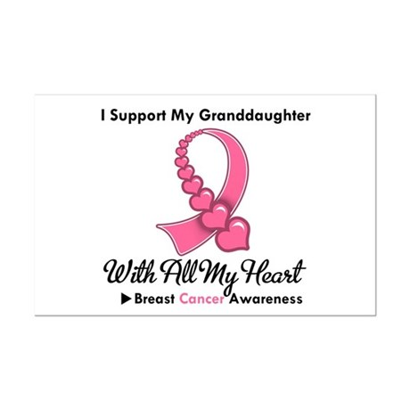 BreastCancerGranddaughter Mini Poster Print