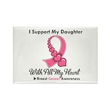 BreastCancerSupportDaughter Rectangle Magnet