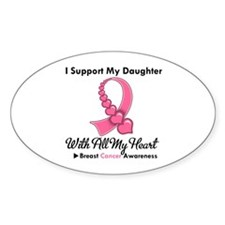 BreastCancerSupportDaughter Oval Decal