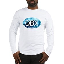 OBX Outer Banks NC Wave Oval Long Sleeve T-Shirt