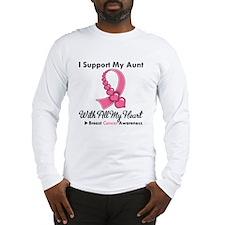BreastCancerSupportAunt Long Sleeve T-Shirt