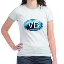 VB Virginia Beach Wave Oval T