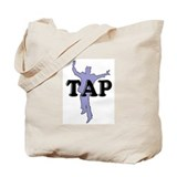 Tap Dancer Silhouette Tote Bag