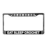 Eat Sleep Crochet License Plate Frame