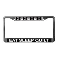 Eat Sleep Quilt License Plate Frame