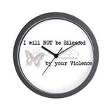 I Will Not Be Silenced Wall Clock