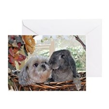 Bunny-Dog Easter Greeting Card