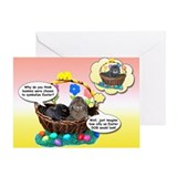 Easter Bunnies-Dog Greeting Card