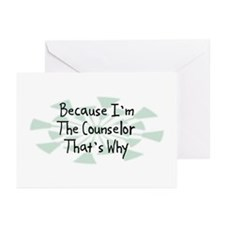 Because Counselor Greeting Cards (Pk of 20)