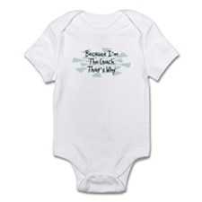Because Coach Infant Bodysuit