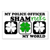 ShamROCKS (Police) Rectangle Decal