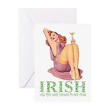 IRISH DOWN TO MY TOES Greeting Card
