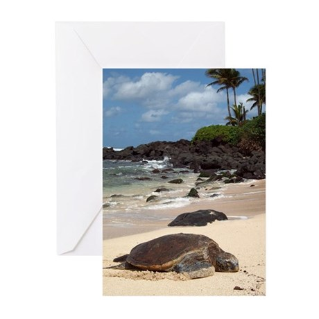 Sea Turtle Beach Greeting Cards (Pk of 10)