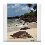 Sea Turtle Beach Tile Coaster