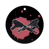 Paintball Guns Ornament (Round)