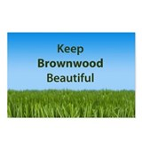 &quot;Keep Brownwood Beautiful&quot; Postcards (Package of 8