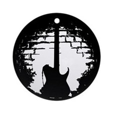 Guitar Silhouette Ornament (Round)