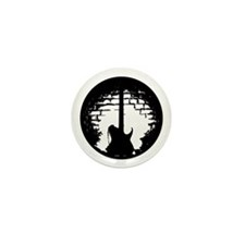 Guitar Silhouette Mini Button (10 pack)