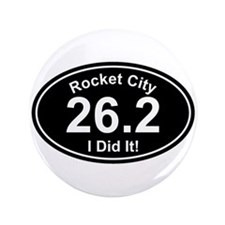"Rocket City Marathon 3.5"" Button (100 pack)"