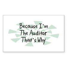 Because Auditor Rectangle Decal