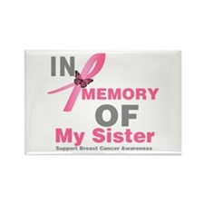 BreastCancerMemorySister Rectangle Magnet