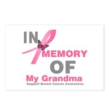 BreastCancerMemoryGrandma Postcards (Package of 8)