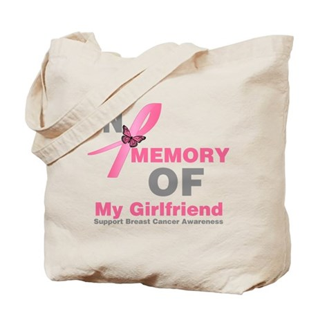 BreastCancerMemoryGirlfriend Tote Bag