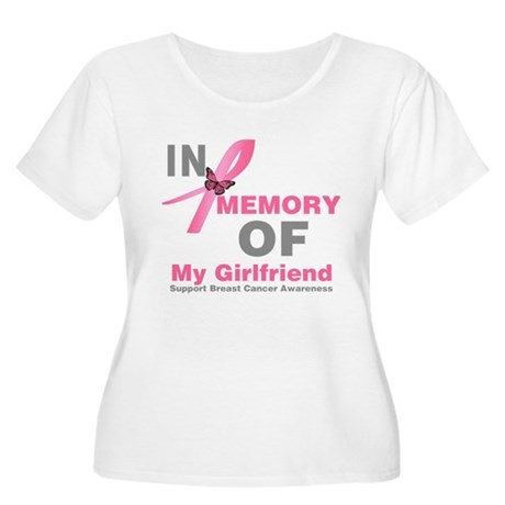 BreastCancerMemoryGirlfriend Women's Plus Size Sco