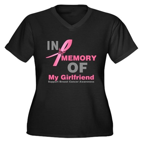BreastCancerMemoryGirlfriend Women's Plus Size V-N
