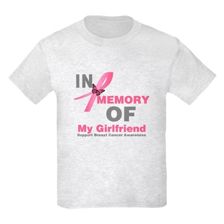 BreastCancerMemoryGirlfriend Kids Light T-Shirt