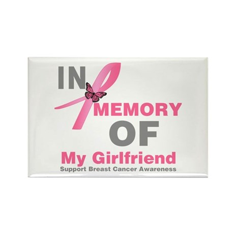 BreastCancerMemoryGirlfriend Rectangle Magnet (100