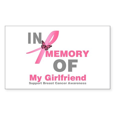 BreastCancerMemoryGirlfriend Rectangle Sticker