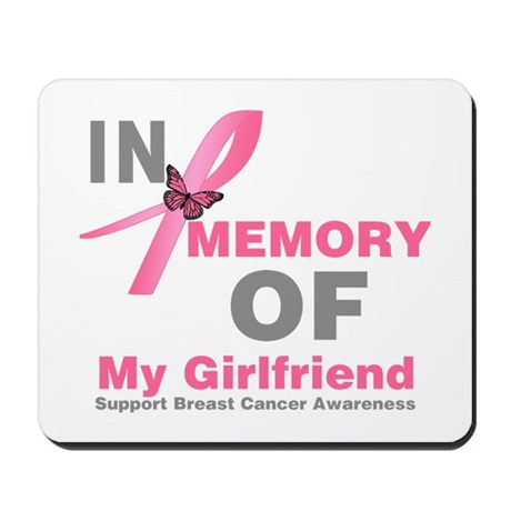 BreastCancerMemoryGirlfriend Mousepad