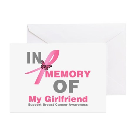 BreastCancerMemoryGirlfriend Greeting Cards (Pk of