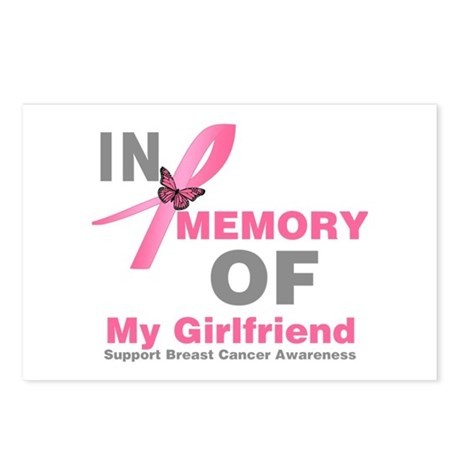 BreastCancerMemoryGirlfriend Postcards (Package of