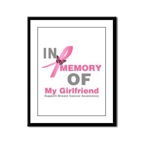 BreastCancerMemoryGirlfriend Framed Panel Print