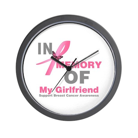 BreastCancerMemoryGirlfriend Wall Clock