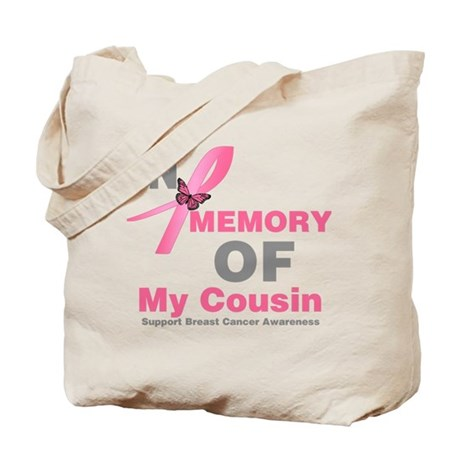 BreastCancerMemoryCousin Tote Bag