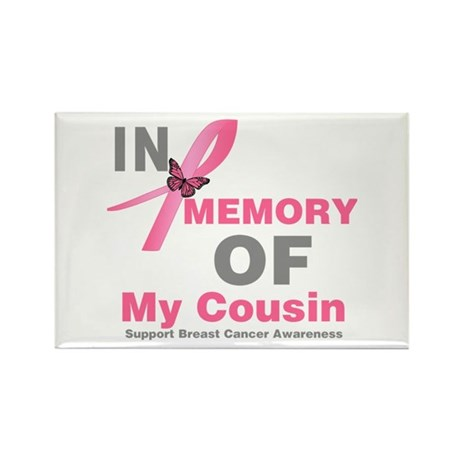 BreastCancerMemoryCousin Rectangle Magnet