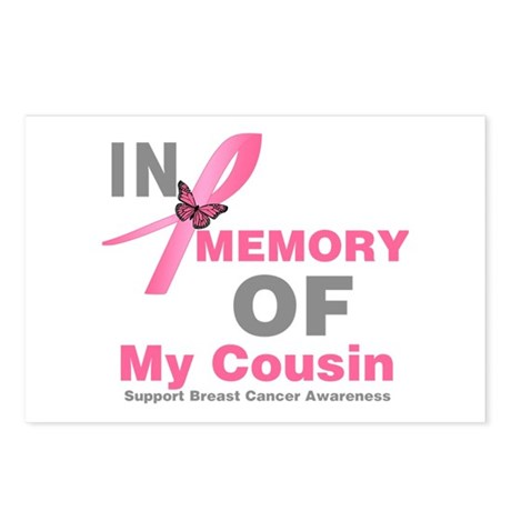 BreastCancerMemoryCousin Postcards (Package of 8)