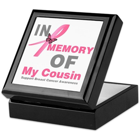 BreastCancerMemoryCousin Keepsake Box