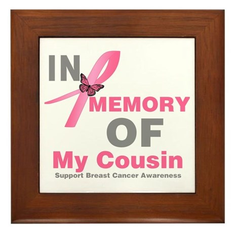 BreastCancerMemoryCousin Framed Tile