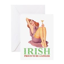 PROUD TO BE A GINGER Greeting Card