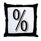 """Algerian - Symbol %"" Throw Pillow"