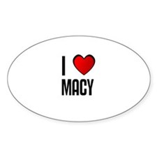 I LOVE MACY Oval Decal
