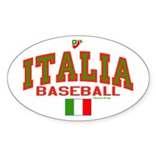 IT Italy Italia Baseball Decal
