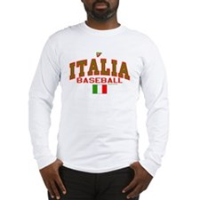 IT Italy Italia Baseball Long Sleeve T-Shirt