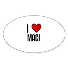 I LOVE MACI Oval Decal