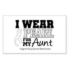 IWearPearl Aunt Rectangle Decal