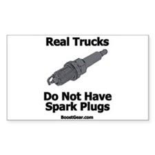 Real Trucks - Spark Plugs Rectangle Decal